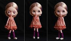 oranje silk dress