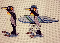 Cross Stitch (Sandy Snapper) Tags: penguin crossstitch picture craft hobby paleblue 365daysincolour