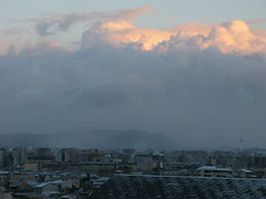 It snows also in your town (hitsujida) Tags: cannon g9 town twilight cloud sky nature