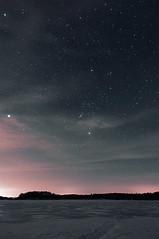 Spring Stars (BrnKng) Tags: sky lake snow minnesota night stars spring long exposure shooters