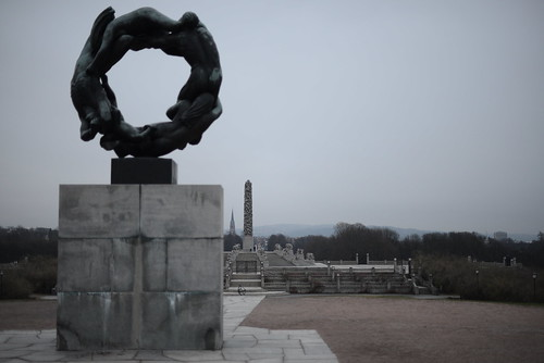 Binary pair at Frogner Park, Oslo, Norway