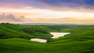 Sunset Lake Tuscany
