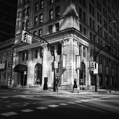 The Hornby Triangle (. Jianwei .) Tags: street shadow urban vancouver triangle candid hornby nex kemily nex6