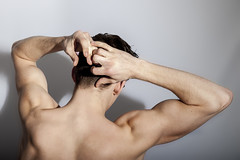 Miles Hurley (www.nick-moore.com) Tags: brown liz muscles tattoo hair studio model eyes muscle muscular smoke stomach pack miles six hurley smokimg strobist