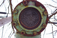 Gas vent (michael_pictures) Tags: county new winter snow cold vent rust decay south pipe nj gas rusted jersey suburbs february middlesex plainfield 2015 southplainfield
