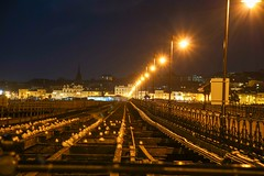 Light Rails (Andrea Munns) Tags: station night lights pier long exposure shot sony esplanade rails alpha isle wight ryde of a6000 emount ilce6000