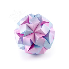 """Impossible? aka """"Modular origami geek test"""" (_Ekaterina) Tags: blue origami violet lilac paperfolding roze modularorigami kusudama unitorigami ekaterinalukasheva"""