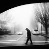 Slow ride (. Jianwei .) Tags: street urban monochrome fog vancouver driving sony oldman nex kemily a6000