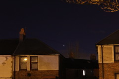 Mars and Venus 16th February 2015 (David Blanchflower) Tags: sky mars canon evening venus space astrophotography planet astronomy conjunction