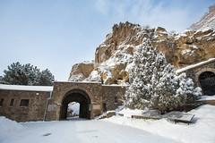 GEGHARD (RAFFI YOUREDJIAN PHOTOGRAPHY) Tags: bridge winter snow building church beautiful canon ancient scenery cross columns scenic monastery armenia 5d 1915 genocide armenian 1635 mkiii geghard