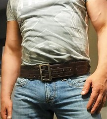 sb07 (armybelt007) Tags: belt crotch jeans sheriff tight bulge tightjeans beltfetish widebelt leatheranddenim wideleatherbelt dutybelt officerbelt armybelt policebelt leatherandjeans beltinjeans beltanddenim sheriffbelt