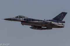 F-16C Fighting Falcon, Polish Air Force, Tigermeet 2016, Zaragoza, Spain (harrison-green) Tags: canon airplane spain force outdoor aircraft aviation air tiger jet fast sigma polish zaragoza falcon take vehicle fighting 31 meet squadron 2016 afterburner f16c reheat 700d 150500mm o0ff