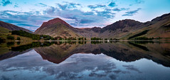 Dusk Reflections at Buttermere (Dave Massey Photography) Tags: sky clouds reflections skies dusk lakedistrict haystacks cumbria buttermere fleetwithpike