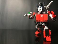 Chibi-Swipe Bot Posing (Sam.C MOCs) Tags: lego transformers sideswipe chibi moc mech robot anime scifi car lamborghini countach
