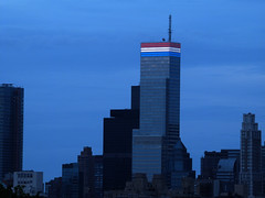 Memorial Day Honors (ZoKë) Tags: newyork skyline architecture buildings cityscape manhattan patriotic redwhiteandblue bloombergbuilding memorialweekend