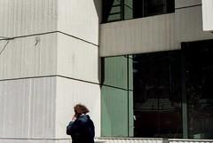 .nevercallmeagain (sahy.luhns) Tags: street city urban woman film analog 35mm hair wind kodak lofi noise reflects filmcommunity