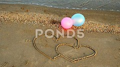 062636920-two-hearts-beach (daria.boteva) Tags: travel sea summer two color love beach nature water outdoors togetherness sketch engagement sand couple holidays honeymoon day heart image symbol space pair unity balloon objects nobody scene valentine romance edge dating tropical backgrounds relaxation shape ideas copy vacations affectionate climate tranquil connection bonding wishing concepts interlocked