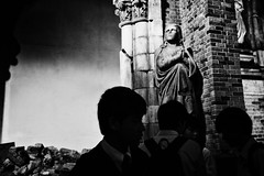 Untitled,  Clothilde BL/Lost In Transition (Lost In Transition Project) Tags: street people blackandwhite bw history monochrome japan museum fuji noiretblanc streetphotography documentary nb japon nagasaki atomicbomb x100s
