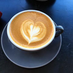 Flat white coffee time at Pardon in Prahran