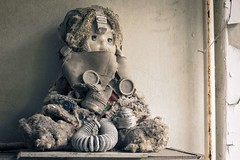 'On the Shelf'...... (Taken-By-Me) Tags: city school urban plant building abandoned girl children lost nikon doll closed industrial power mask decay empty exploring radiation eerie ukraine gone gas creepy adventure explore takenbyme forgotten disaster vacant d750 gasmask left derelict demolished zone reactor chemical shut ue chernobyl urbex pripyat