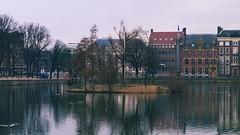 Hofvijver (Court Pond) (Long Sleeper) Tags: street trees sky lake holland building tree architecture reflections pond thenetherlands denhaag thehague hofvijver courtpond dmcgx1 lumixg425mmf17asph