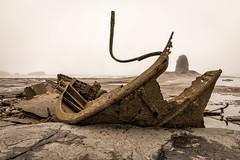 Admiral Von Trump (graham2034) Tags: mist seascape haze yorkshire shipwreck whitby seafret saltwickbay blacknab admiralvontrump