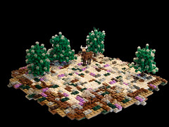The Coming Of Spring (BrickCurve) Tags: trees winter snow tree ice landscape spring melting lego deer moc historica mitgardia