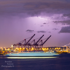 Fastest ferry in the fleet. (Brendinni) Tags: storm lightpainting water colors weather ferry clouds lights lighttrails lightning tones cloudporn purples portofseattle washingtonstateferry wsferry
