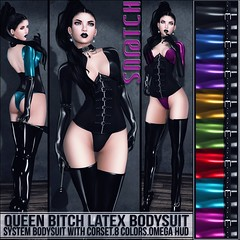 Queen Bitch Latex Bodysuit Vendor Ad LG (Tess-Ivey Deschanel) Tags: life sexy leather omega style bdsm sl secondlife second latex outfits skirts pvc snatch ivey sntch ihearts iveydeschanel omegasystem