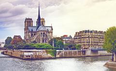 Notre Dame (klepher) Tags: summer panorama paris france color monument seine canon landscape view pastel notredame 7d notre dame past quasimodo cityscpae klefer