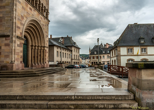 Entrance Stairs to the Abbey of Echternach after Rain Shower