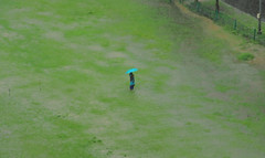 Rain Lady (Debmalya Mukherjee) Tags: green field rain lady monsoon mumbai 18135 canon550d debmalyamukherjee