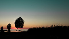 The Elements - Earth (marco soraperra) Tags: light sunset shadow red sea summer sky sun white lake black colour tree green nature water grass silhouette dark landscape fire nikon warm bright earth air nikkor