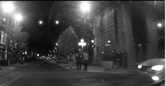downtown lights (jsmithington) Tags: streetphotography streetscene street blackandwhite tucson arizona candid
