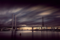 Looking longing at Bolte Bridge (Leanne Cole) Tags: longexposure photographer photos australia images victoria environment docklands fineartphotography boltebridge longexposurephotography environmentalphotography fineartphotographer nikond800 firecrest16 environmentalphotographer formatthitechfilters formatthitech leannecole leannecolephotography