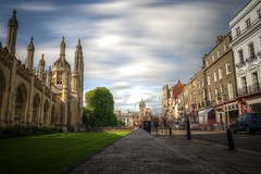 cambridge (mariusz kluzniak) Tags: street uk cambridge england motion blur college architecture europe long university oldtown mariusz expoosure kluzniak
