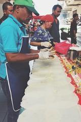 Getting ready (appropos) Tags: people food hawkers popiah bazaarramadhan foodbazaar