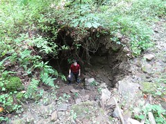 Hole created by collapse after 23 June 2016 flood (g.s.springer) Tags: hole flood westvirginia collapse sinkhole 2016 june23 alluvium 23june