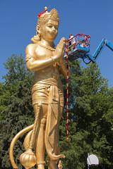 DUE_4578r (crobart) Tags: dedication statue ji golden vishnu hill ceremony richmond celebration idol hanuman unveiling hindu hinduism mandir bapu pujya morari