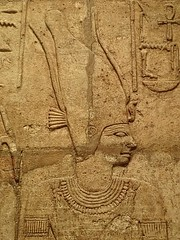 Closeup of relief on the Shrine of the 25th dynasty pharaoh and Kushite King Taharqa  Egypt 7th century BCE (4) (mharrsch) Tags: architecture temple worship shrine king god unitedkingdom religion egypt oxford pharaoh 7thcenturybce ruler myth basrelief ashmoleanmuseum taharqa lateperiod 25thdynasty mharrsch