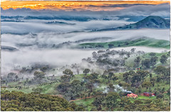 The Fellowship of the Fog (BlueberryAsh) Tags: winter chimney weather fog sunrise landscape nikon smoke gap australia lookout hills valleys sunsetssunrises strathcreek murhison cloudsstormssunsetssunrises