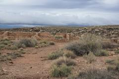 Pueblo Ruins at Petrified Forest National Park - Arizona (Brynn Thorssen) Tags: park red arizona rain fossil nationalpark ancient rust flood cloudy desolate petrifiedforestnationalpark flooded petrifiedforest petrified petrifiedwood fossilized rainbowforest