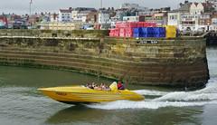 Dead  Slow / Dead  Fast (SFB579 Namaste) Tags: sea holiday wet water yellow coast seaside speedboat sony yorkshire fast tourists resort passengers coastal salty recreation tidal bridlington eastcoast