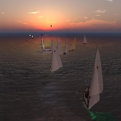 NYC Shields Race - Clean start! (vivipezz) Tags: nyc sailing sl secondlife shields