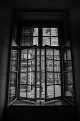 Rear Window 2 (LAK.Photography) Tags: fenster window sw schwarzweis schwarzweiss blackwhite bw symmetrie symmetry spiegelung reflection nikon d810 kopenhagen copenhagen
