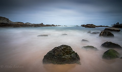 Cloudy morning (Mika Laitinen) Tags: canon7dmarkii europe portugal cloud landscape longexposure nature ocean outdoor rock sea seascape shore sky water wideangle beja pt leefilters leebigstopper