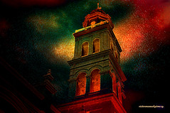 BELL TOWER. (Viktor Manuel 990) Tags: sky mxico night clouds noche digitalart belltower cielo nubes veracruz artedigital campanario victormanuelgmezg