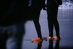 12-1969- Redondo Surf (21) (foundslides) Tags: redondobeach ca calif california analog slide slides irmalouiserudd johnhrudd foundslides kodachrome kodak vintage surfer surfers surfing breakers wave waves sports water ocean sea seasid 1969 1960s transparencies rudd irma wetsuit wet december socal southbaycameraclub south bay southbay usa surfboard