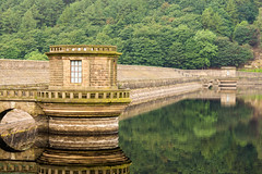 Ladybower Reflections (Snap Tin) Tags: morning trees summer reflection nature water beautiful june reflections landscape mirror outdoor earth dam derbyshire peakdistrict sony reservoir alpha ladybower beautifulearth