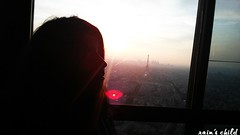 me & the eiffel tower from montparnasse tower, paris (rain's child) Tags: travel sunset paris france eiffeltower aerialview toureiffel traveling tourmontparnasse montparnassetower